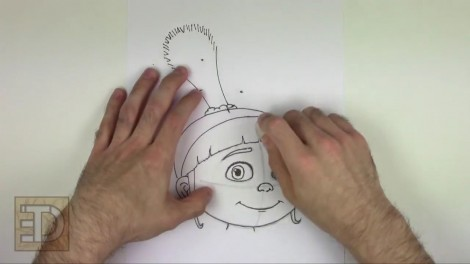how to draw agnes from despicable me step by step 10