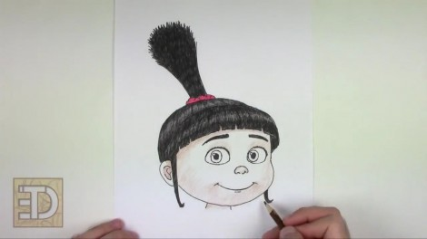 how to draw agnes from despicable me step by step 11