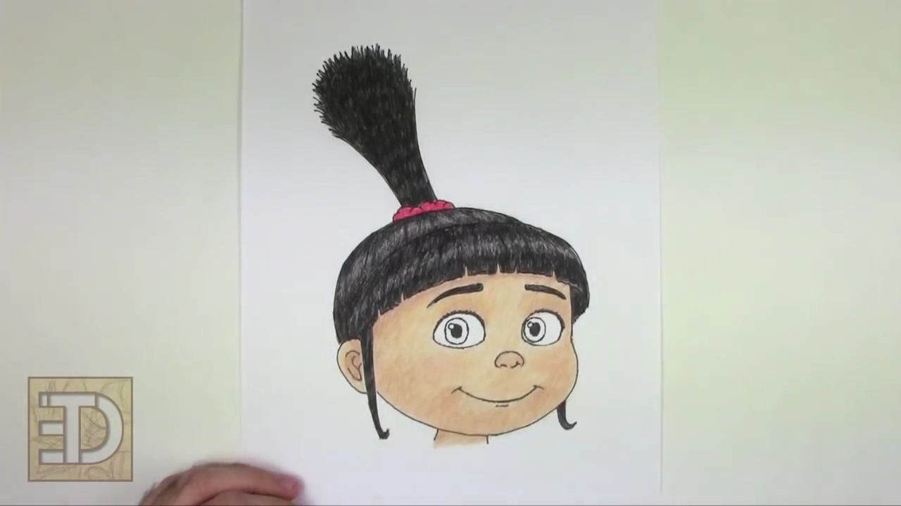 How to draw Agnes from despicable me step by step | ARCMEL.COM