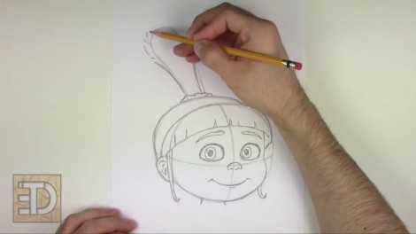 how to draw agnes from despicable me step by step 8