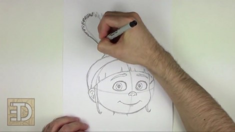 how to draw agnes from despicable me step by step 9