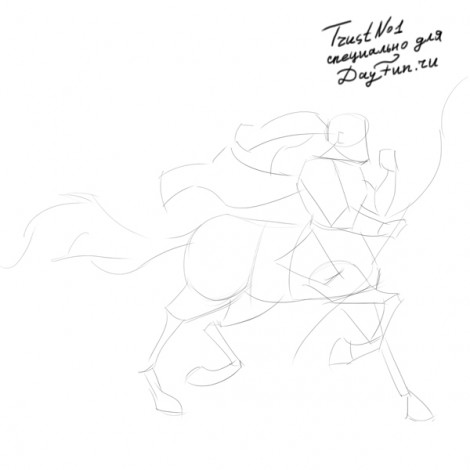 how to draw centaur step by step 2