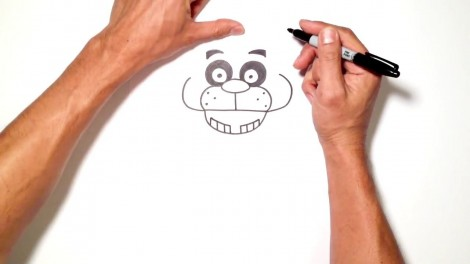 how to draw freddy fazbear from five nights at freddy's 3