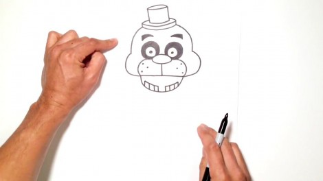 how to draw freddy fazbear from five nights at freddy's 4