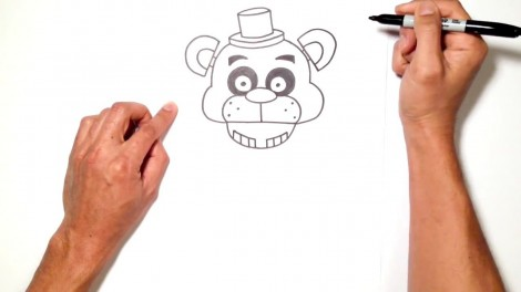 how to draw freddy fazbear from five nights at freddy's 5