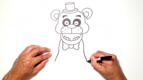 how to draw freddy fazbear from five nights at freddy's 6