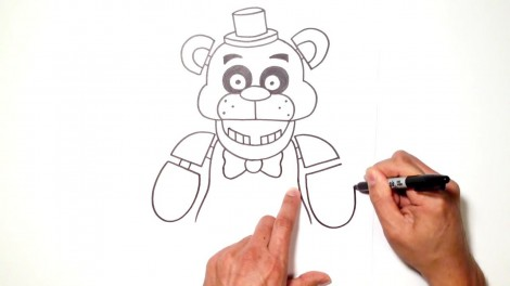how to draw freddy fazbear from five nights at freddy's 7