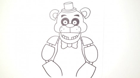 how to draw freddy fazbear from five nights at freddy's 8