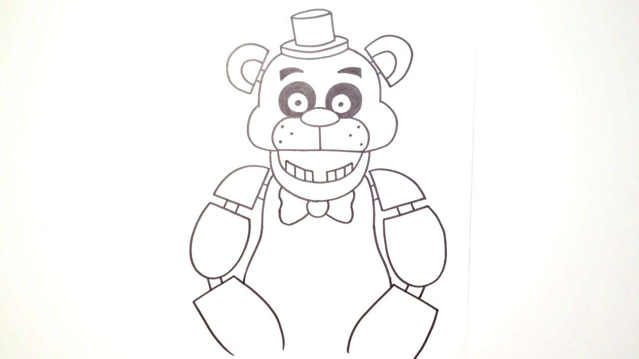 How to draw freddy fazbear five nights at freddys step 13 pictures to
