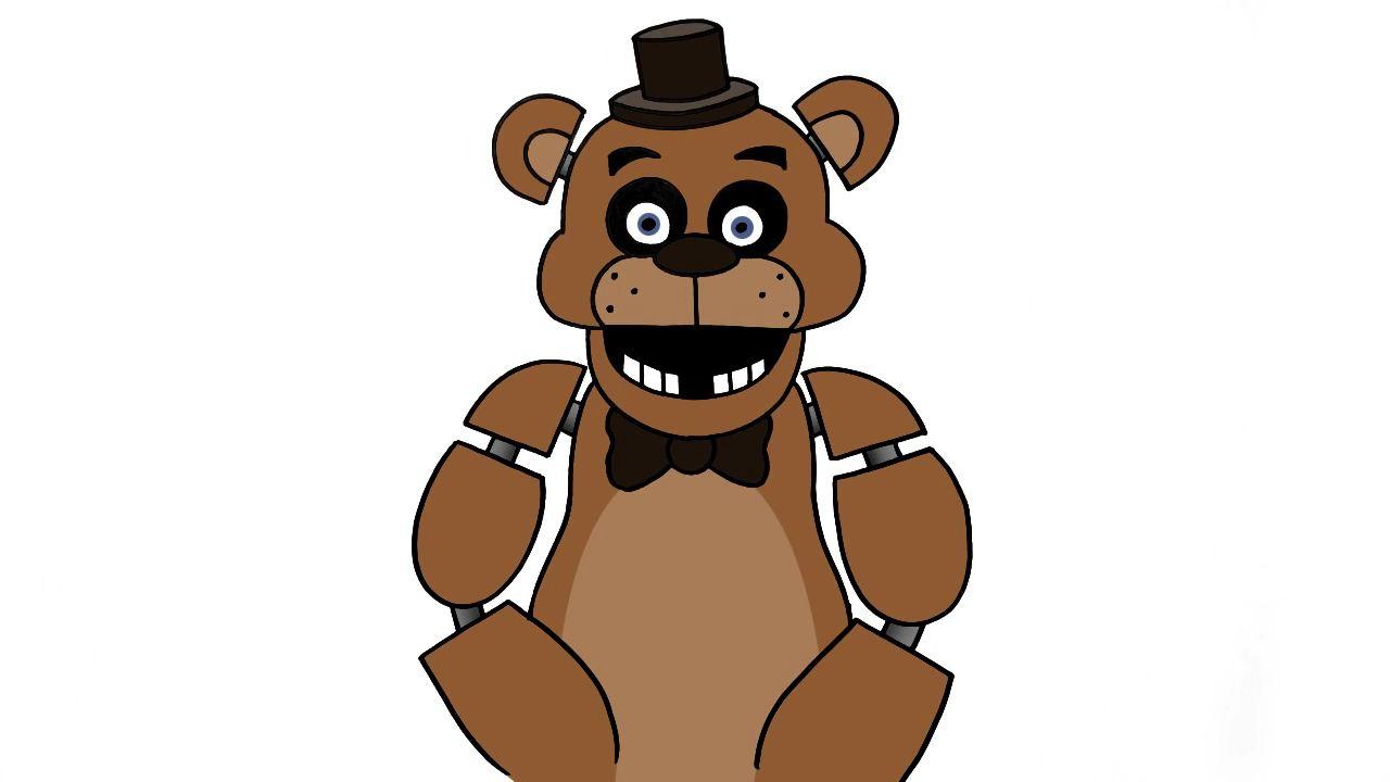 How to draw Freddy Fazbear from five nights at freddy's