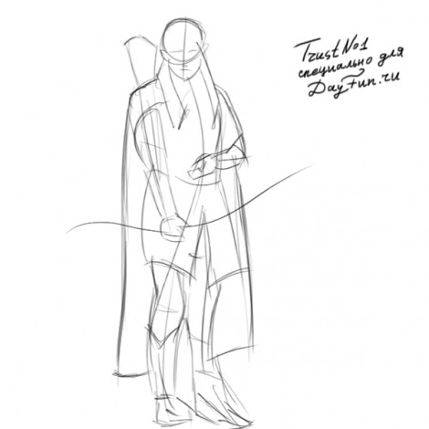 How to draw Legolas step by step 2