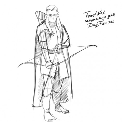 How to draw Legolas step by step 5