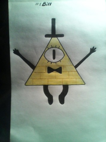 how to draw bill cipher from gravity falls 5