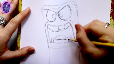 How to Draw ANGER from Pixar's Inside Out - @dramaticparrot.mp4_20151004_230253.846