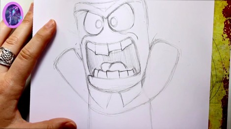 How to Draw ANGER from Pixar's Inside Out - @dramaticparrot.mp4_20151004_230258.939