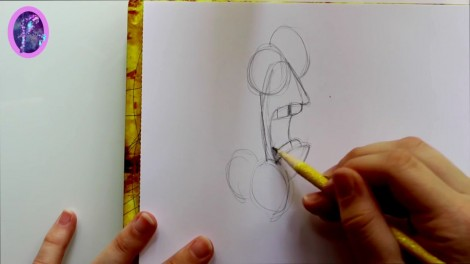 How to Draw FEAR from Pixar's Inside Out - @dramaticparrot.mp4_20151002_203430.014