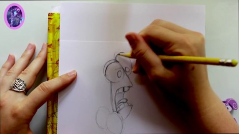 How to Draw FEAR from Pixar's Inside Out - @dramaticparrot.mp4_20151002_203432.963
