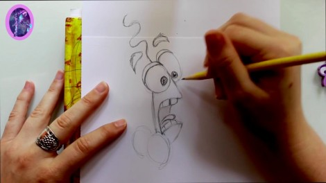 How to Draw FEAR from Pixar's Inside Out - @dramaticparrot.mp4_20151002_203437.947