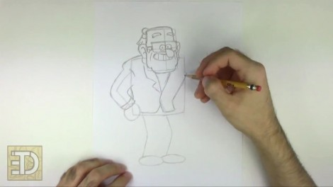 How to Draw Grunkle Stan from Gravity Falls.mp4_20151011_185936.439