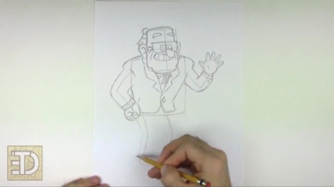 How to Draw Grunkle Stan from Gravity Falls.mp4_20151011_185940.854