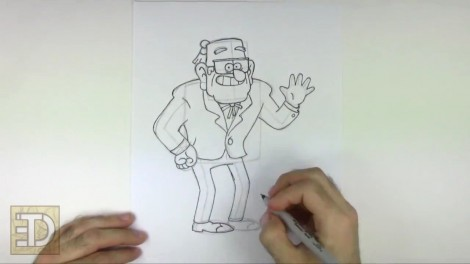 How to Draw Grunkle Stan from Gravity Falls.mp4_20151011_185944.159