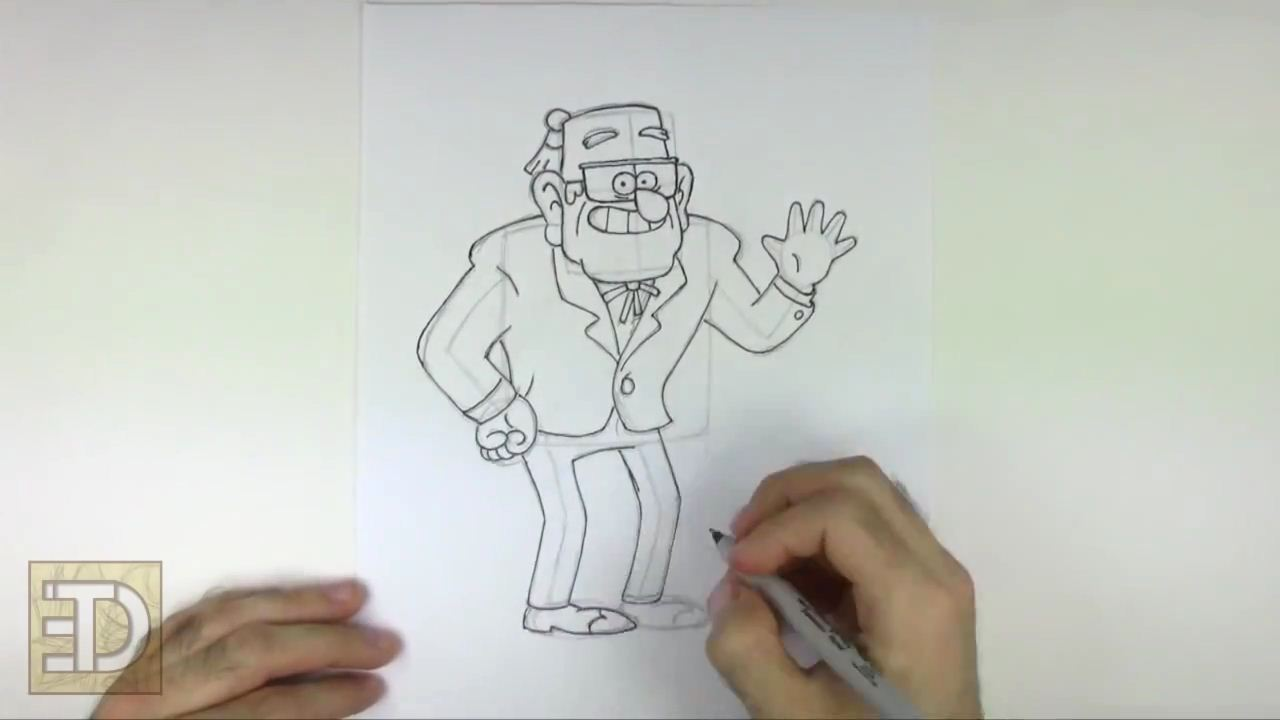 How To Draw Stan From Gravity Falls Arcmel Com
