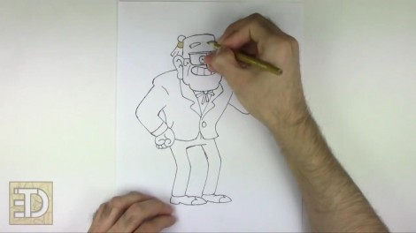How to Draw Grunkle Stan from Gravity Falls.mp4_20151011_185945.375