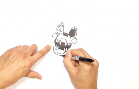 How to Draw Mangle- FNAF 2- Video Lesson.mp4_20151005_203501.203
