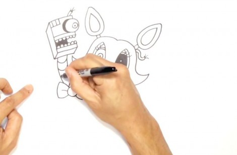 How to Draw Mangle- FNAF 2- Video Lesson.mp4_20151005_203517.980