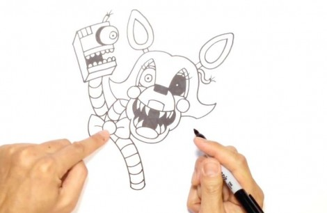 How to Draw Mangle- FNAF 2- Video Lesson.mp4_20151005_203520.787