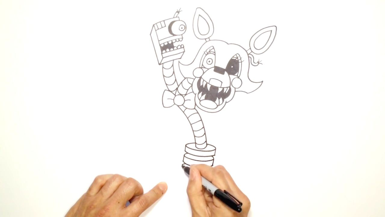 Fnaf 2 Drawings how to draw mangle from fnaf 2   arcmel