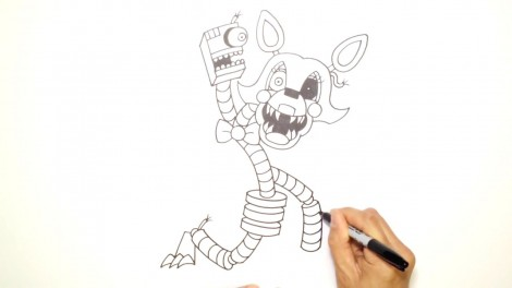 How to Draw Mangle- FNAF 2- Video Lesson.mp4_20151005_203528.667