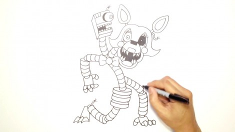 How to Draw Mangle- FNAF 2- Video Lesson.mp4_20151005_203538.092