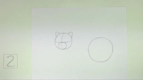How to Draw a Cat (Persian) 1
