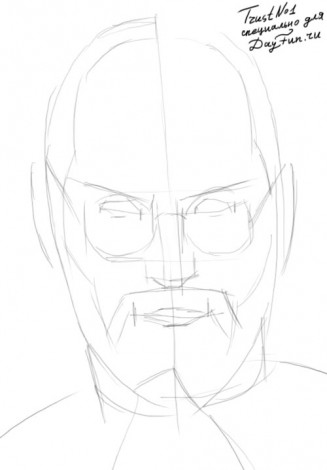 How to draw Steve Jobs 1