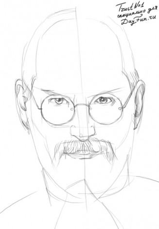 How to draw Steve Jobs 2
