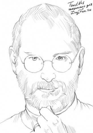 How to draw Steve Jobs 4
