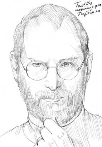How to draw Steve Jobs 5