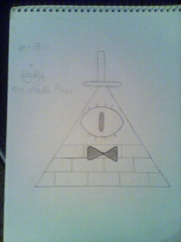 how to draw bill cipher from gravity falls 3