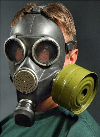 how to draw gas mask