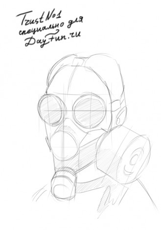 how to draw gas mask step by step 3