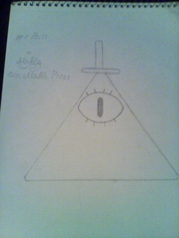How to draw Bill Cipher step by step 2