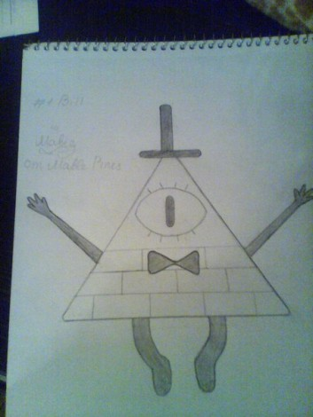 how to draw bill cipher from gravity falls 4