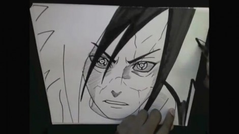 HOW TO DRAW MADARA UCHIHA 11