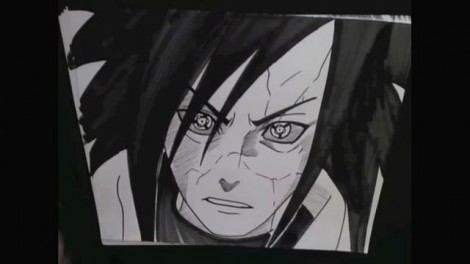HOW TO DRAW MADARA UCHIHA 13