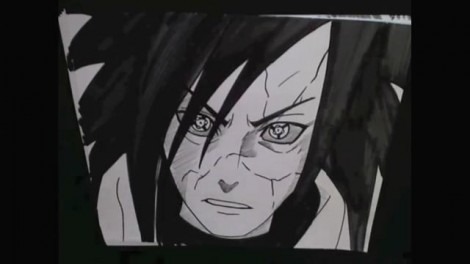 HOW TO DRAW MADARA UCHIHA 14