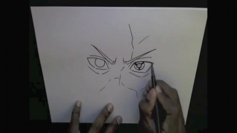 HOW TO DRAW MADARA UCHIHA 5