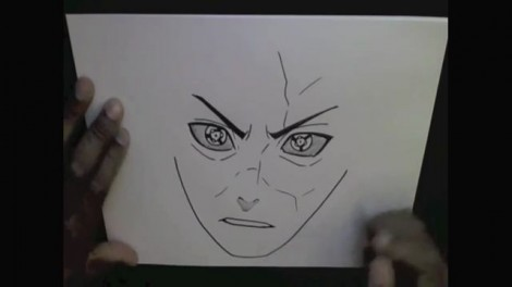 HOW TO DRAW MADARA UCHIHA 7