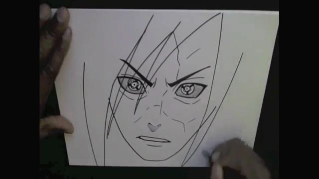 how to draw madara uchiha step by step