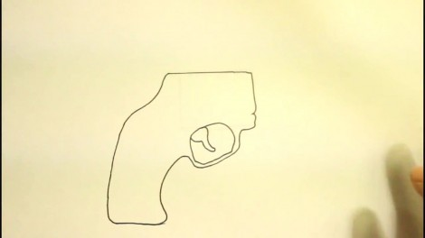 How To Draw A Pistol-Step By Step-Gun-On Paper..mp4_20151103_192144.778